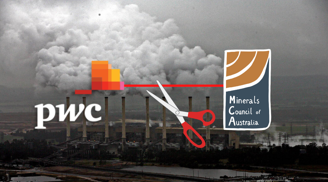 Text PwC CEO Tom Seymour and demand that PwC leave the Minerals Council